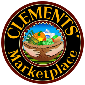 A theme logo of Clements' Marketplace
