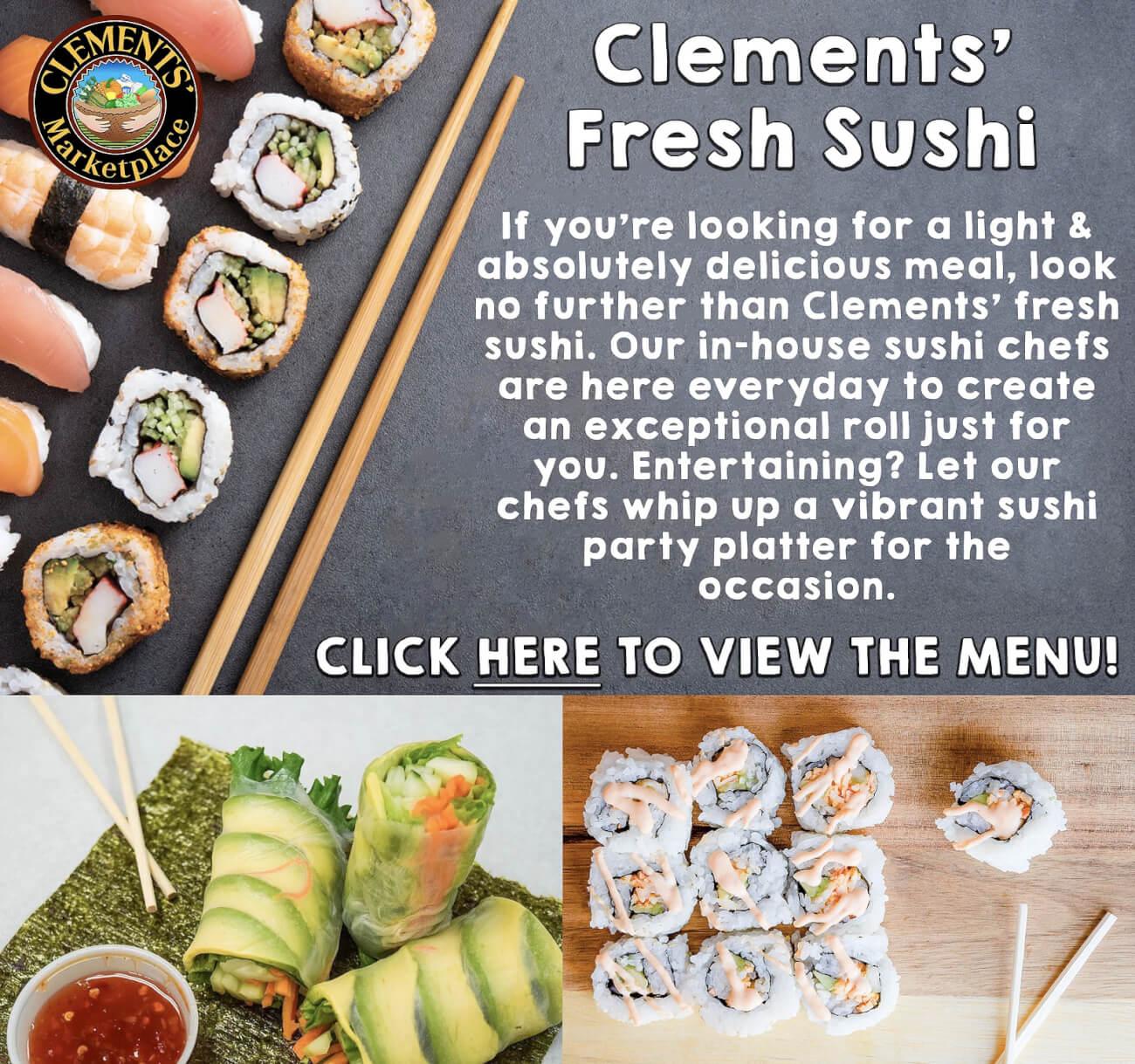 Clements Fresh Sushi