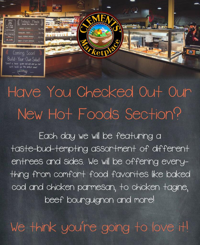 New Hot Foods!